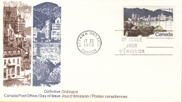 Canada - FDC 17-03/04-1972 - Freimarken - Städtebilder/Stadsgezichten - Vancouver - Quebec - M 496x-497x - Omslagen Van De Eerste Dagen (FDC)