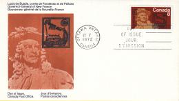 Canada - FDC 17-05-1972 - 300. Jahrestag Der Ernennung Von Frontenac Zum Gouverneur Von Neu-Frankreich - M 499 - Omslagen Van De Eerste Dagen (FDC)