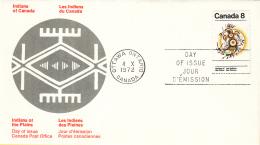 Canada - FDC 04-10-1972 - Indianer (II) - Tracht Und Bilderschrift Der Prärie-Indianer - M 511x-512x - Omslagen Van De Eerste Dagen (FDC)