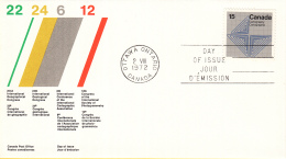 Canada - FDC 02-08-1972 - Internationale Erdkundliche Kongresse - M 502x-505x - Omslagen Van De Eerste Dagen (FDC)
