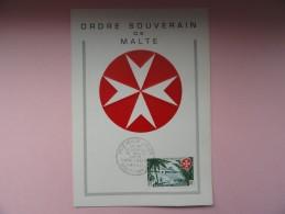 CARTE MAXIMUM CARD ORDRE SOUVERAIN  DE MALTE - Autres