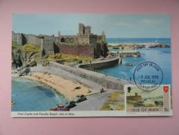 CARTE MAXIMUM CARD PEEL CASTLE AND FENELLA BEACH ISLE OF MAN - Man (Ile De)