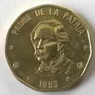 Monnaie - Dominicaine - 1 Peso 1993 - TTB  - - Dominicana