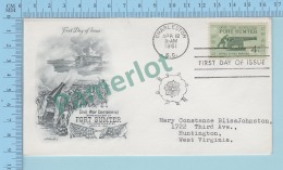 USA FDC PPJ - Cachet : Civil War Fort Sumter  - Cover 1961 On A USA 4¢ - Premiers Jours (FDC)