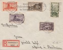 Saar - Registered Cover Volksabstimmung 1935 - Three Different Marks - Briefe U. Dokumente