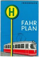 Fahrplan Der Innsbrucker Verkehrsbetriebe (IVB), Gültig Ab 30. Mai 1965 (10 Abb. In Farbe), 28 Seiten - äußerst RAR - Europa