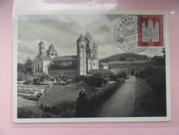 CARTE MAXIMUM CARD BASILIKA MARIA LAACH KIRCHWEIHE ALLEMAGNE - [7] República Federal