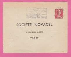 ENVELOPPE T.S.C. SOCIETE NOVACEL  MARIANNE DE MULLER 0.25 Rose - Entiers Postaux