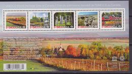 CANADA UNESCO WORLD HERITAGE SITES IN CANADA SHEET MNH - UNESCO