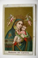 MADONNA DEL CARMINE     11 X  7  ,     IMAGE PIEUSES   SANTINO   HOLYCARD   SAINT   HEILIG   SANTO - Santini