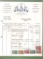Facture- Savonneries A. CRISTEL-LEBRUN S.A.- Gosselies  - 1951 (2) - Savon - Droguerie & Parfumerie