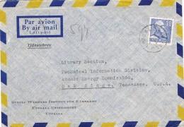 17973. Carta Aerea UPPSALA (Suecia) Sverige 1951. Universitat - Lettres & Documents