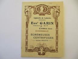 Catalogue Appareils De Laiterie GARIN, Cambrai 1904 - 16 Pages + Couverture Gauffrée - Livres, BD, Revues