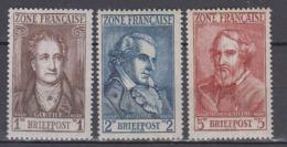 ALLEMAGNE     1945    N.  11 / 13       COTE   7 . 65   EUROS           ( M 220 ) - Zone Française