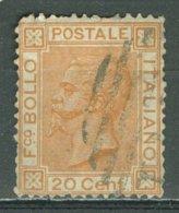 ITALIA 1877: Sassone 28 / YT 24, O - FREE SHIPPING ABOVE 10 EURO - 1861-78 Vittorio Emanuele II