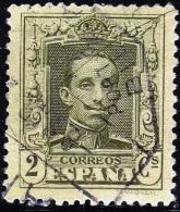 1922 EDIFIL 310 ALFONSO XIII VÁQUER USADO AMBULANTE PORTUGALETE BILBAO RRR SPAIN SPANIEN ESPAGNE SPANJE - Usados
