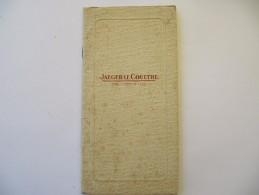Catalogue JAEGER LE COULTRE, Horlogerie De Luxe - Montres, Pendulettes, Pendules - 40 Pages - Livres, BD, Revues