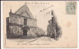 Thonon Les Bains : Grande Rue Et Eglise - Thonon-les-Bains