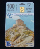MONTENEGRO CHIP CARD 100 UNITS 2000, EXCELLENT QUALITY, USED. - Montenegro