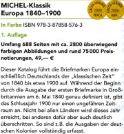 Europa Klassik Bis 1900 Katalog MICHEL 2008 Neu 98€ Stamps Germany Europe A B CH DK E F GR I IS NO NL P RO RU S IS HU TK - Deutsch