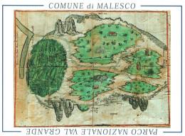 """Malesco (Verbania, Piemonte) Rappresentazione Iconografica Di Una Porzione Dell´attuale """"Parco Nazionale Val Grande"""" - Verbania"""