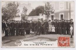 NANTERRE - Ces Braves POMPIERS - CARTE PHOTO - Nanterre