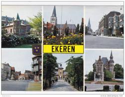 Grote Kaart Antwerpen Ekeren Groeten Uit Un Bonjour De Greetings From Grusse Aus - Antwerpen