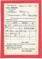 MILLAU 1911 PEAUX LAINES POILS RAOUL MARQUES A COMMUNEAU A BEAUVAIS OISE CARTE EN BON ETAT - Millau