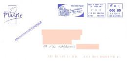 EMA MD 642569 Yvelines + Flamme Ville De Plaisir Sur Enveloppe Illustrée De La Mairie - EMA ( Maquina De Huellas A Franquear)
