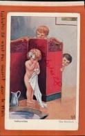 CPSM FANTAISIES  CHROMOS  Chromo  INDISCRETION THE BASHFULL  ENFANTS LA TOILETTE   Avr 2016 241 - 1900-1949