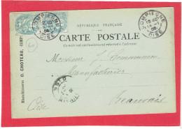 COMPIEGNE 1905 BLANCHISSERIE O. CHOTEAU A COMMUNEAU A BEAUVAIS OISE CARTE EN BON ETAT - Compiegne