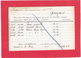 MAZAMET 1919 MAISON NOZ LAINES A COMMUNEAU A BEAUVAIS OISE CARTE EN BON ETAT - Mazamet