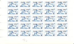 St Pierre Et Miquelon MNH Scott #251 Partial Sheet Of 25 60c On 90c Tortue Lighthouse FRANCE LIBRE F.N.F.L. Overprint - Blocs-feuillets