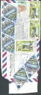! - Venezuela - Recto D'une Lettre Avec 9 Timbres - Envoi Par Avion Vers Bruxelles - Venezuela
