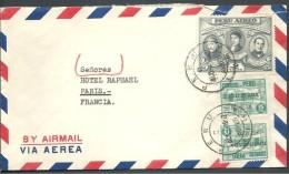 ! - Pérou - Lettre Avec 3 Timbres- Envoi Par Avion Vers Paris - Pérou