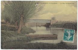 *MERY-CORBON (14) – Le Bac D´Anneray.* Carte Toilée. - Non Classés