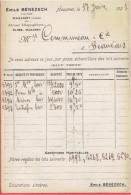 CARTE POSTALE 1921 MAZAMET TARN EMILE BENEZECH LAINES POUR MAISON COMMUNEAU A BEAUVAIS OISE - France