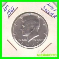 UNITED STATES OF AMERICA   HALF DOLLAR   J.F. KENNEDY  AÑO 1967 - Central America