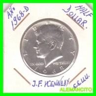UNITED STATES OF AMERICA   HALF DOLLAR   J.F. KENNEDY  AÑO 1968-D - Central America