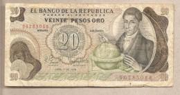 Colombia - Banconota Circolata Da 20 Pesos - 1979 - Colombia