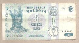 Moldavia - Banconota Circolata Da 5 Lei - 1994 - Moldavia
