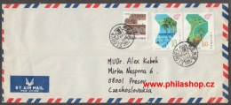 Airmail Cover 1989 To Czechoslovakia - 1949 - ... People's Republic