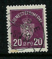 Norway Norge 1926 Officials, Arms , Mi 4 Nice  Cancelled(o) 8.4.33 - Service