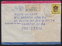UAE United Arab Emirates - Postal History Cover Registered From DUBAI B Used 12.5.1986 - United Arab Emirates