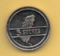 ECUADOR - 5 Sucres 1988 SC  KM91 - Ecuador