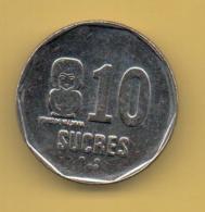 ECUADOR - 10 Sucres 1991 SC  KM92 - Ecuador
