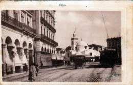 ALGER - Strassenansicht, Tramway, Karte Um 1920 - Algerien