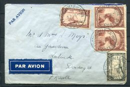 Belgian Congo 1935 - Air Mail Cover Leopoldville To Lalinde France - Belgian Congo