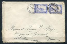 Belgian Congo 1933 - Cover Leopoldville To Lalinde France. Wax Seal - Belgian Congo