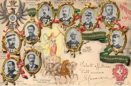 CARTOLINA DI  54° FANTERIA 16 APRILE 1904 43° ANNIVERSARIO COMMEMORATIVO VIAGGIATA 1904 - Inaugurazioni
